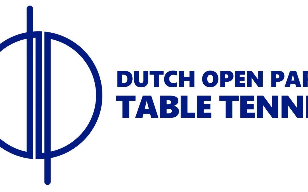 Vrijwilligers gezocht voor de Dutch Open Para Table Tennis